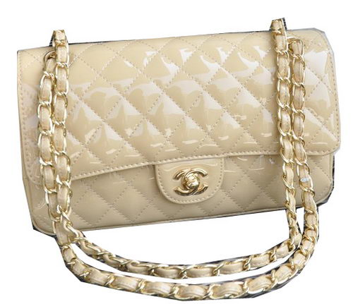 Chanel 2.55 Series Bag Apricot Sheepskin Leather CHA1112 Gold