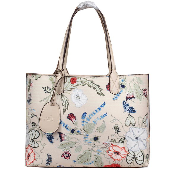 2015 Gucci Reversible GG Leather Tote Bag 368568 White