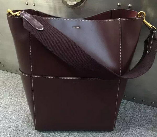 CELINE Sangle Seau Bag in Original Leather C16212 Brown