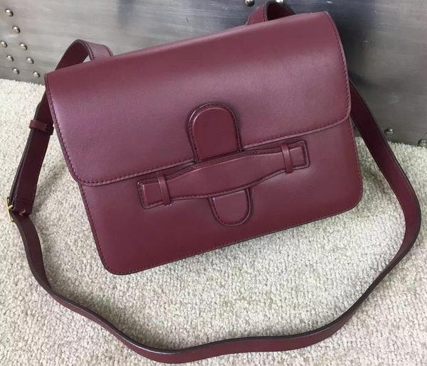 CELINE Symmetrical Bag in Original Leather C77423 Burgundy