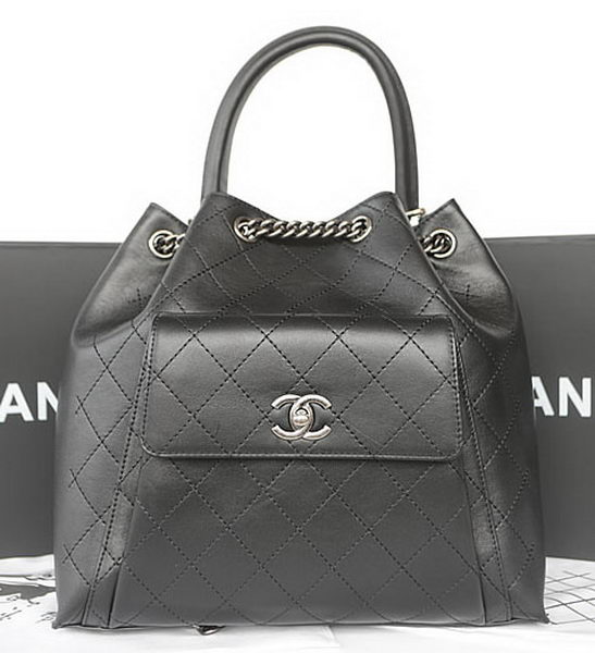 Chanel Top Handle Bag Original Calfskin Leather A93881 Black