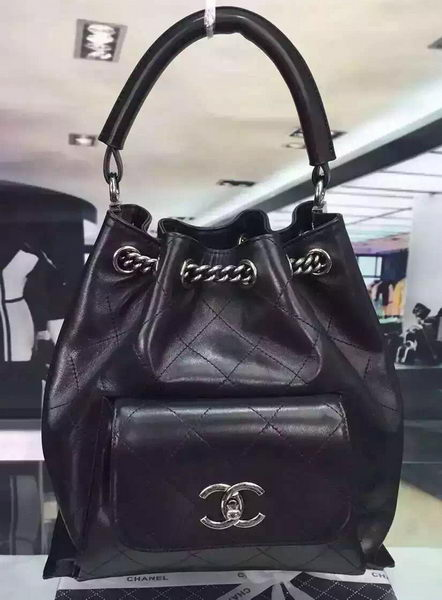 Chanel Top Handle Bag Original Calfskin Leather A98059 Black