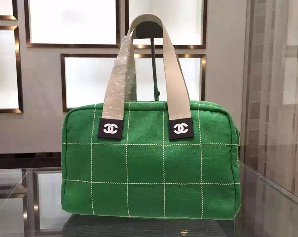 borse Chanel Bowling Shopping Tote verde Autunno Inverno /