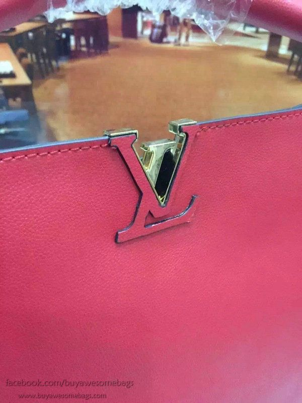 Louis Vuitton in pelle di vitello Tournon Hobo Borse M50541 rosso