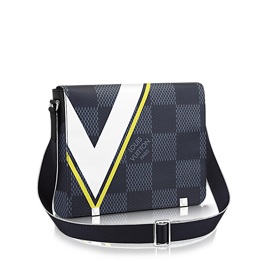 Louis Vuitton District MM Tela Damier Cobalt