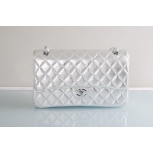 Chanel A01113 Quilted Metallic Agnello Flap Bag