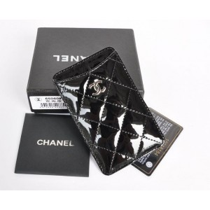 Chanel A65060 Vernice Nera In Pelle Iphone Porta