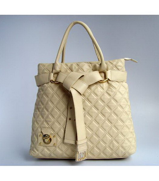Marc Jacobs Chic Quilted Leather Bag Beige