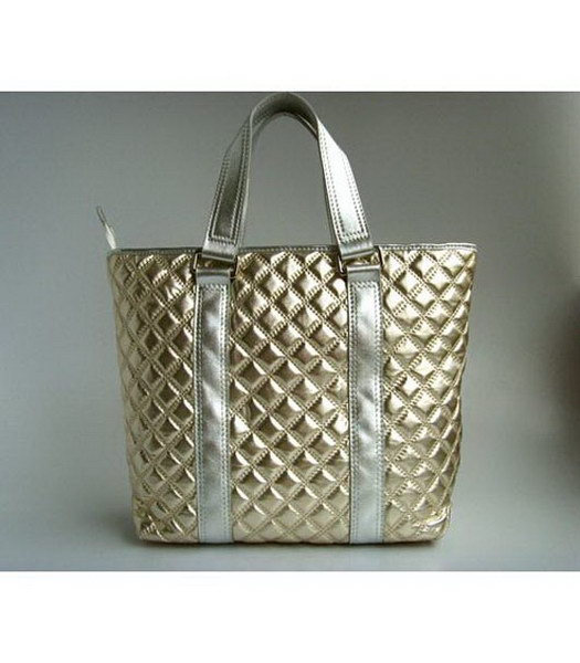 Marc Jacobs cuoio lucido Tote Light Oro