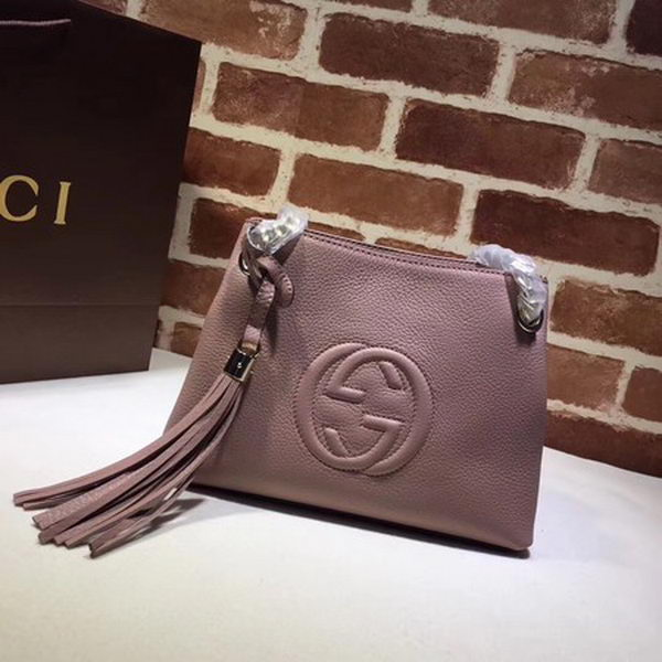 Gucci Soho Small Tote Bag Calfskin Leather 387043 Pink