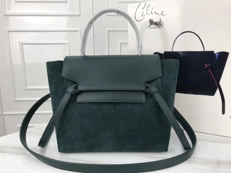 Celine Small Belt Bag Original Suede Leather A98310 Green - Clicca l'immagine per chiudere
