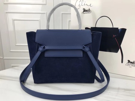 Celine Small Belt Bag Original Suede Leather A98310 Royal