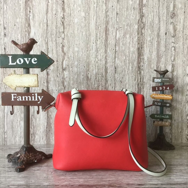 Celine Sheepskin Leather Shoulder Bag 90059 Red