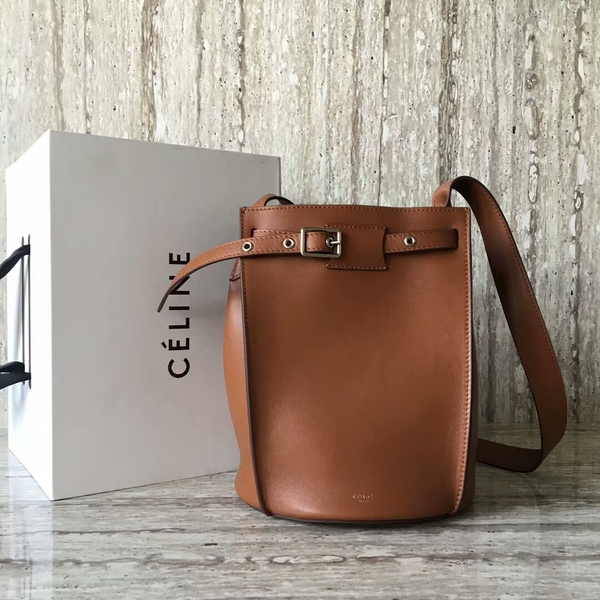 Celine Bigbag Calfskin Leather Shoulder Bag 55428 Brown