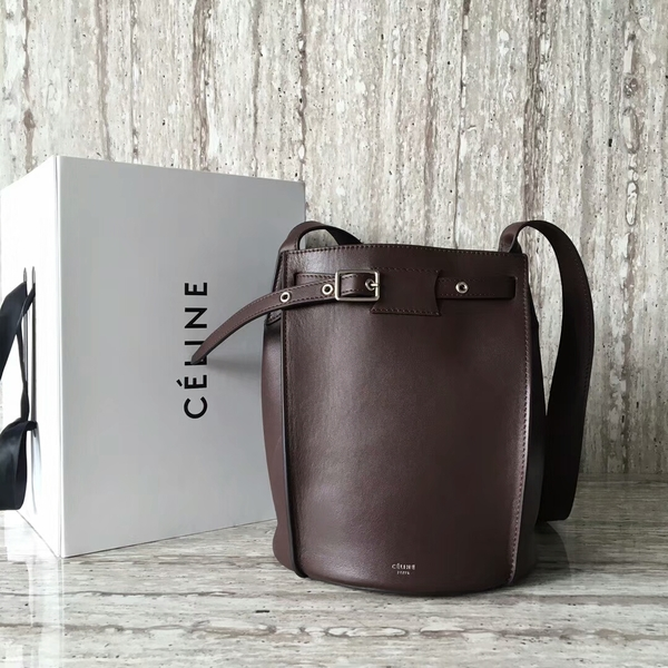 Celine Bigbag Calfskin Leather Shoulder Bag 55428 Coffee