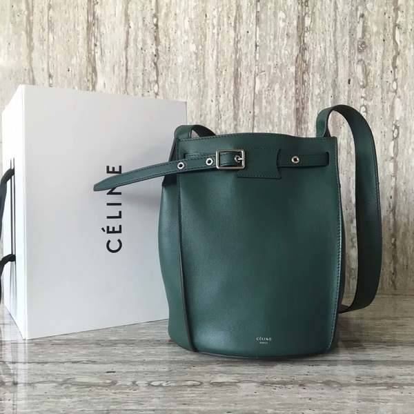 Celine Bigbag Calfskin Leather Shoulder Bag 55428 Green