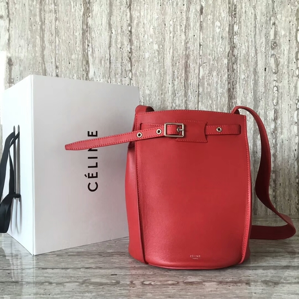 Celine Bigbag Calfskin Leather Shoulder Bag 55428 Red