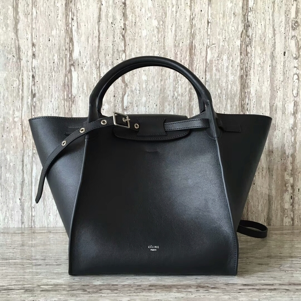 Celine Bigger Tote Bag Original Leather 55426 Black