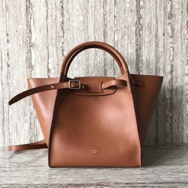 Celine Bigger Tote Bag Original Leather 55426 Brown