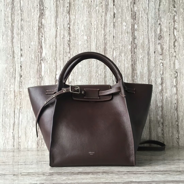 Celine Bigger Tote Bag Original Leather 55426 Coffee