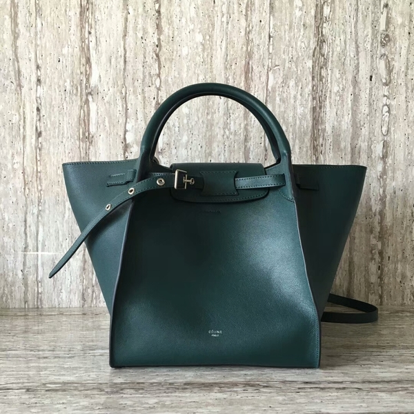 Celine Bigger Tote Bag Original Leather 55426 Green