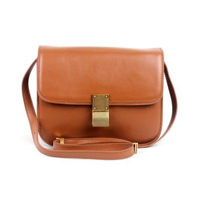 Chiusura Celine Classic Box Bag Media Albicocca