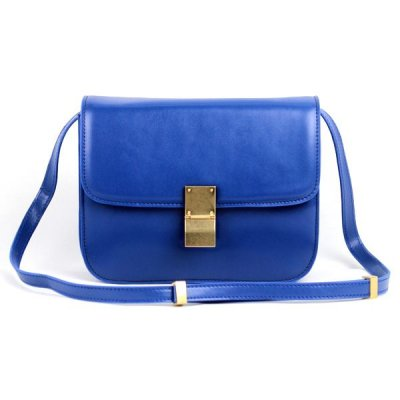 Chiusura Celine Classic Box Bag Medium Blue