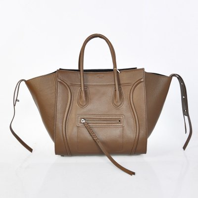 Celine Boston Brown bovina Borse