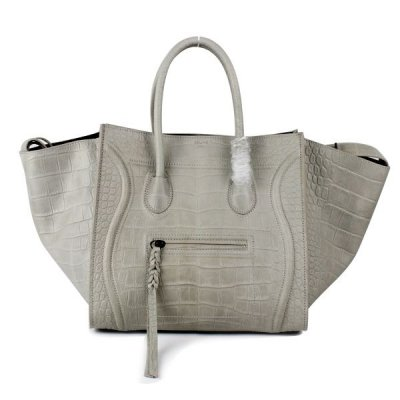 Celine Boston Croco Beige Borse in pelle