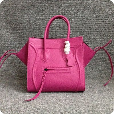 Celine Boston Deep Rose Borse Suede Piazza