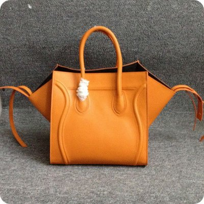 Celine Boston Piazza Orange vitello Borse