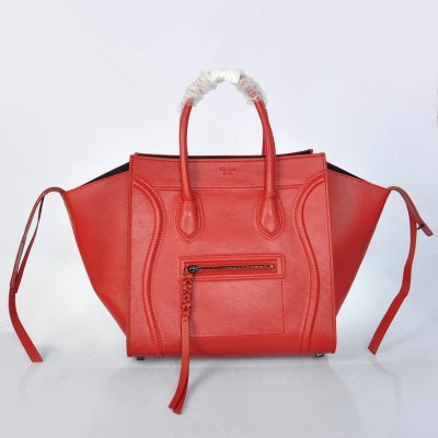 Celine Boston Red bovina Borse