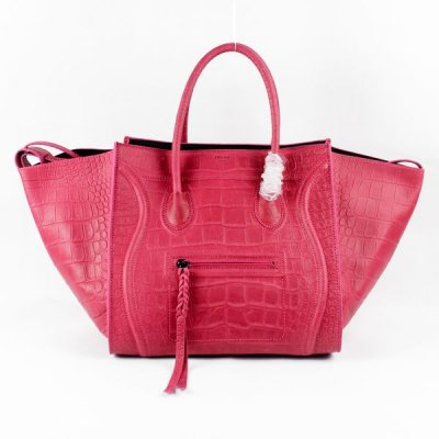 Celine Boston Rose Borse in pelle di coccodrillo