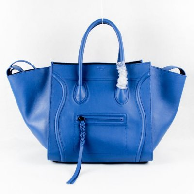 Celine Boston Sky Blue Square Borse Suede