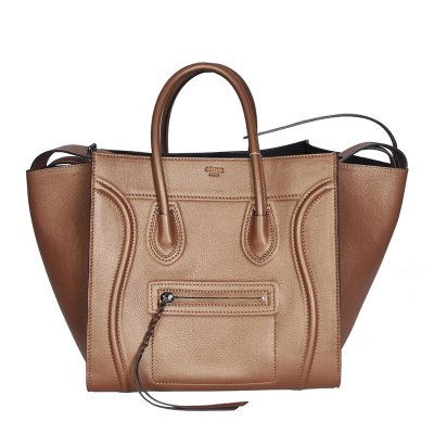 Celine Boston Tan bovina Borse