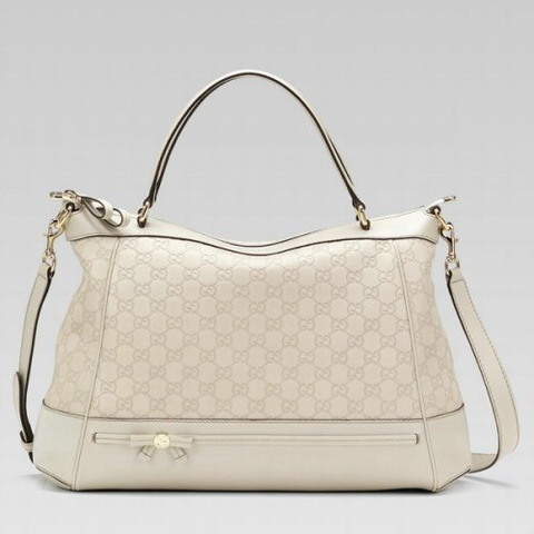 Gucci Mayfair Grande Top Handle Bag 257349 in Off-White