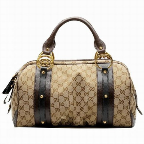 Gucci interblocco Medium Boston Bag 223953 Beige / Marrone