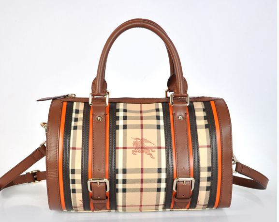 Hobo Burberry Outlet economici Marrone Burberry 'House Check'