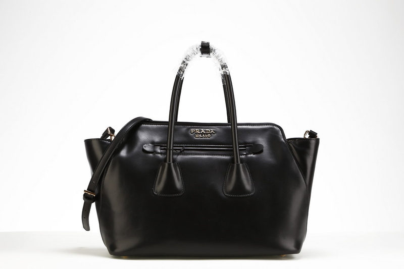 2013 Ultima Prada morbida pelle di vitello Tote BN2611 in Black