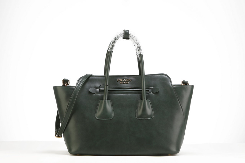 2013 Ultima Prada morbida pelle di vitello Tote BN2611 in verde