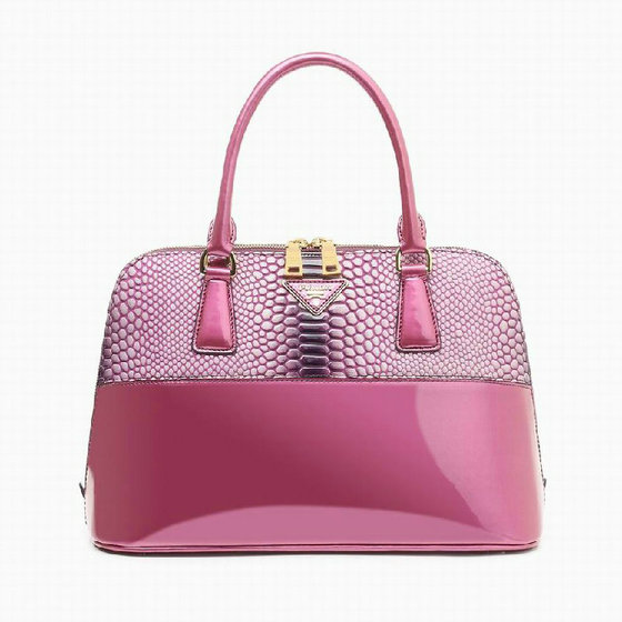 2014 Prada Snake Patent Leather Bag BN0890 in viola
