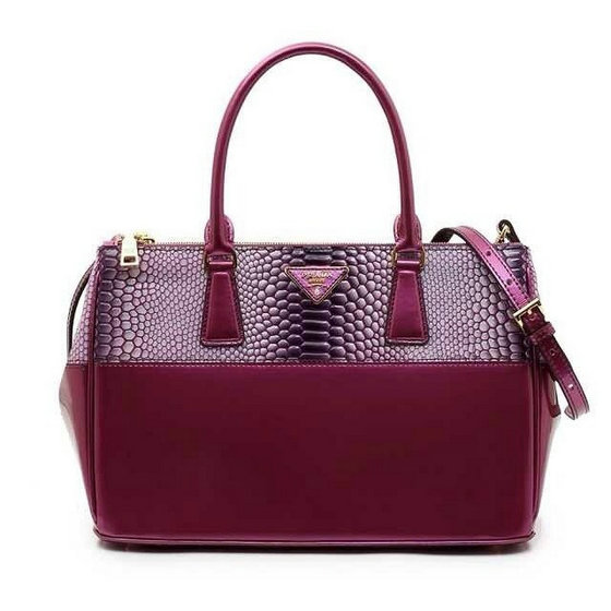 2014 Prada Snake Patent Leather Bag BN2274 in viola