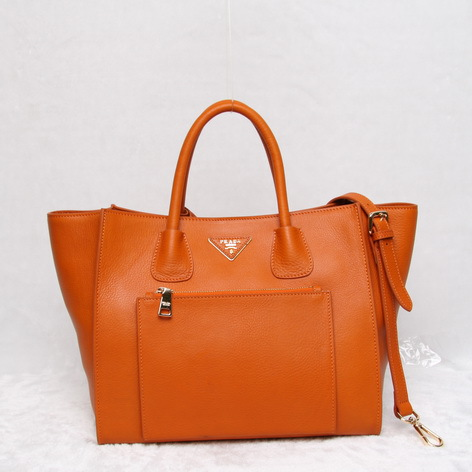 2014 Prada Vitello Daino Tote di cuoio BN2626 a Orange