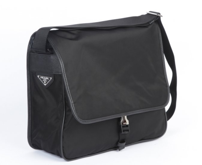 Prada Media Messenger Borse Laptop V158 in Nero